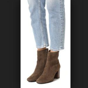 Frye Jodi Booties Ankle Dark Brown Suede Leather